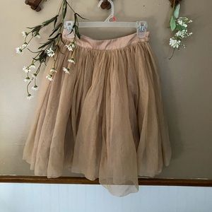 Forever21 Tan Tulle Skirt
